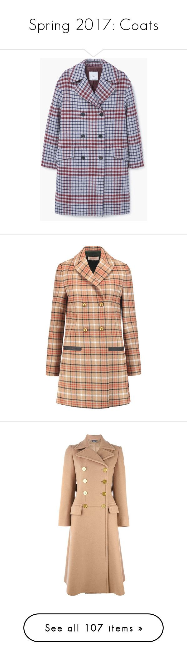 """Spring 2017: Coats"" by lorika-borika on Polyvore featuring outerwear, coats, mango coats, checked coat, checkered coat, fur-lined coats, long sleeve coat, jackets, coats & jackets и tan"