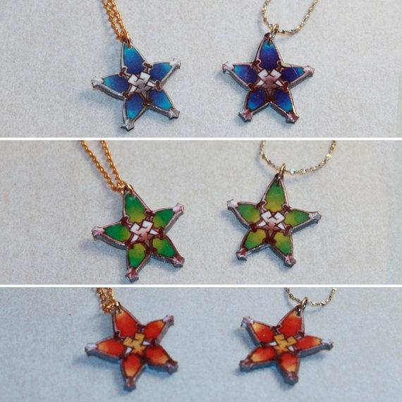 Kingdom Hearts Charm Bracelet: Kingdom Hearts Wayfinder Star Aqua, Terra, Ventus Coin