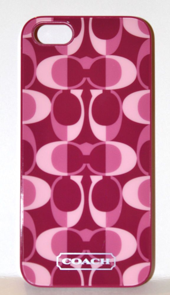 "COACH Peyton Dream ""C"" iPhone 5 Case SUPER CUTE MAGENTA/PINK-Coach Item #F66805"