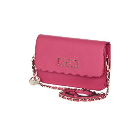 DKNY Umhängetasche aus Leder in Pink
