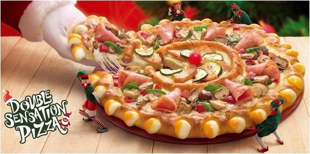 ": ""Pizza in a pizza"" from Pizza Hut Singapore. Uh...yummy?"