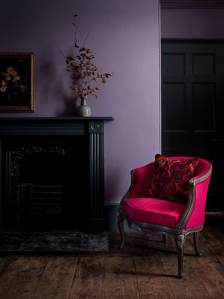 Marianne Boudoir Chair in Mistral Fuchsia with Marble Butterfly Cranberry Scatter Cushion #DurestaforMW #MWFurniture #HarrodsHome #Duresta