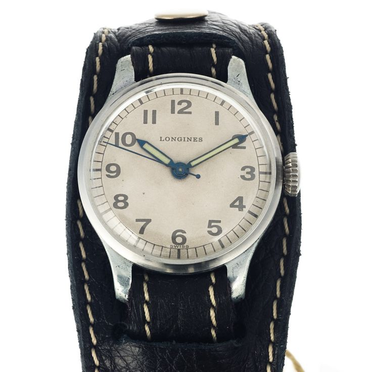 "Look at those ""blue"" steel hands showing the time accurately - Longines watch vintage style"
