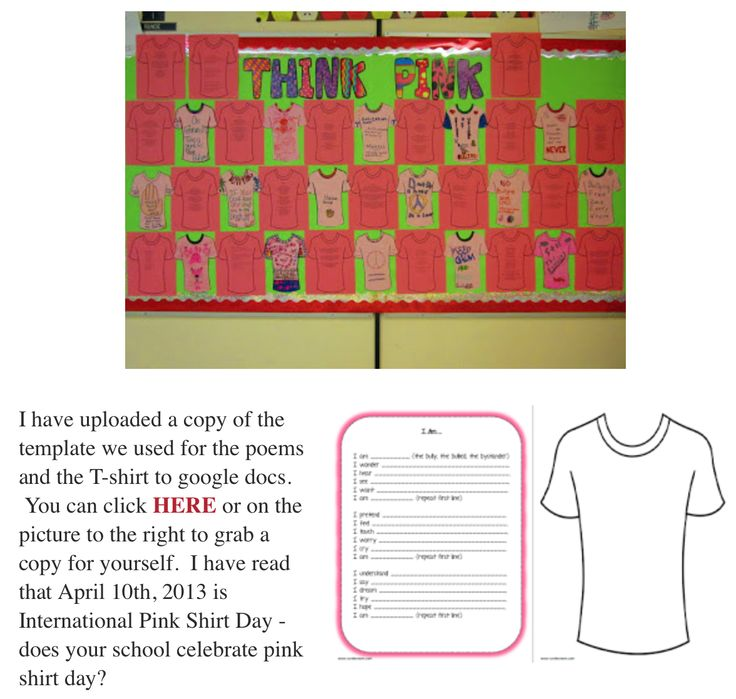 Pink Shirt Day Activities