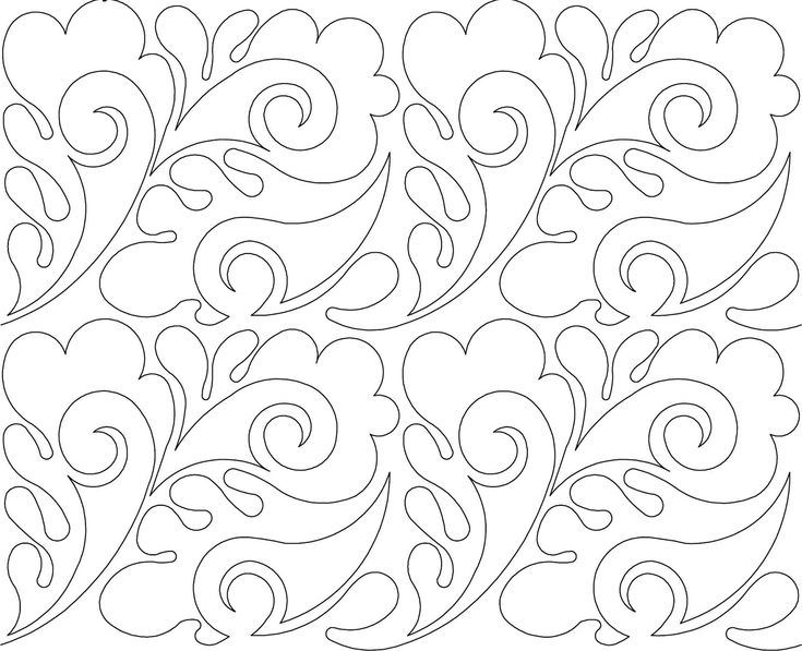 'Paisley Feather' digital pantograph by Anne Bright