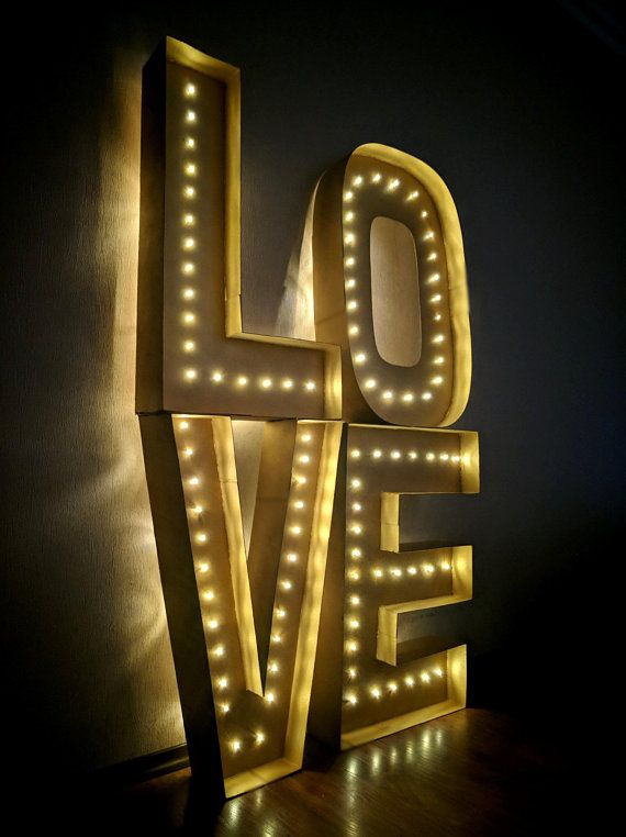 Beautiful Big Led Letters With Lights That Will Decorate Your Wedding Party Or Any Other Event Light Up Marquee Letters Marquee Letters Diy Marquee Letters
