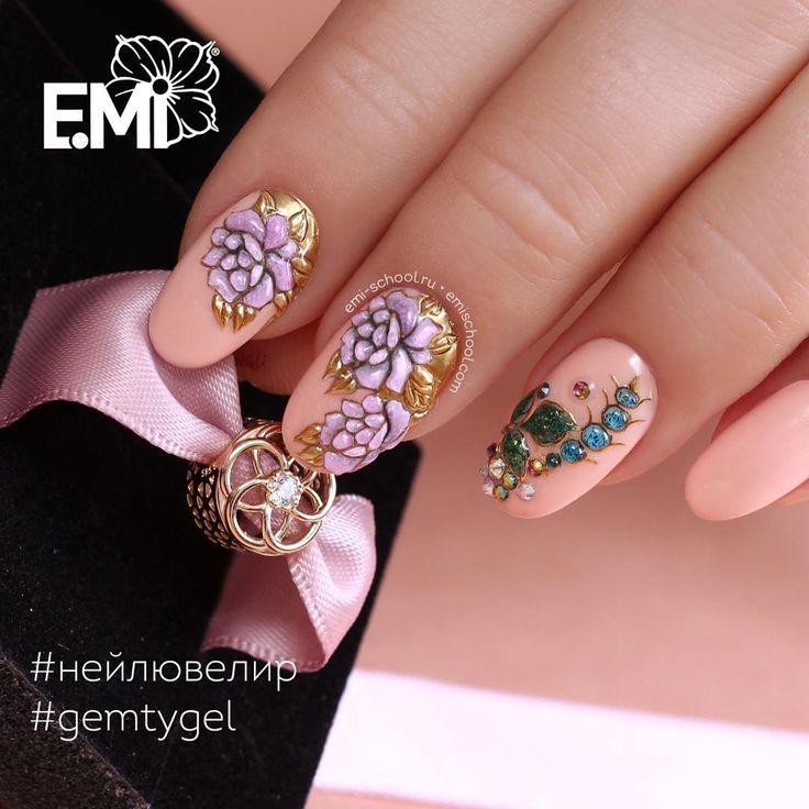 Мой новый #emimanicure поближе! На безымянном пальце дизайн лишний... Но мне очень хотелось попробовать новые #charmicon ............................. #НейлЮвелир #СтеклянныеЦветы ............................. #EmiManicure #EmiLac #EMi #EmiDesign #manicure #emischool #nailart #nails #gelpolish #instanail #нейлкруст #дизайнногтей #маникюр #nailcrust #гельлак # #ногти #педикюр #шеллак #nailpro #nailswag #naildesign #nails4today #nailstagram #nails2inspire #handpainted