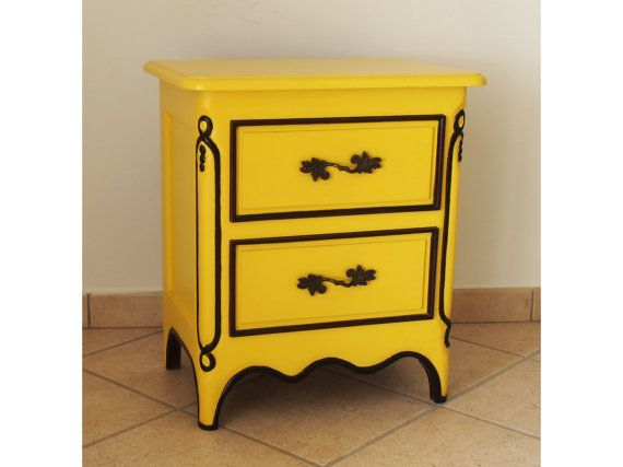 Hey, I found this really awesome Etsy listing at https://www.etsy.com/listing/165456283/yellow-bedside-table