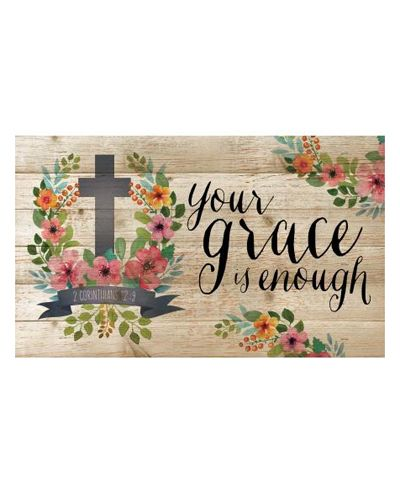 Your Grace Is Enough Wood Sign : Cute Aprons - Cute Dresses - Cute Maxi Skirts - Cute Gifts - Daisy Shoppe