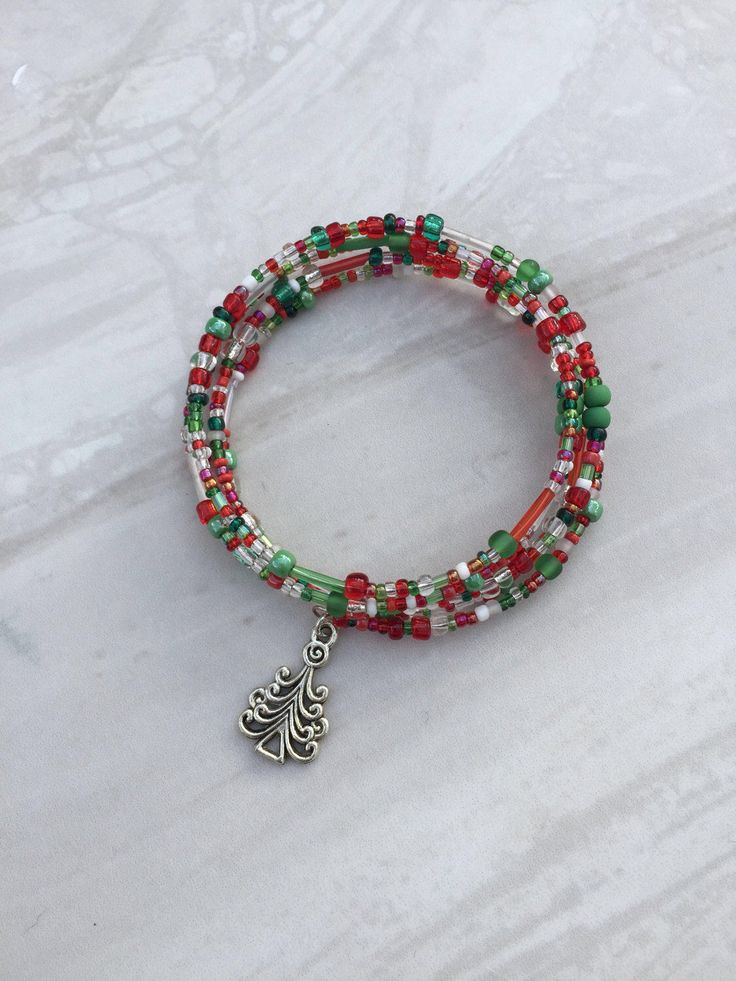 A personal favourite from my Etsy shop https://www.etsy.com/uk/listing/202344871/christmas-bracelet-memory-wire-bracelet