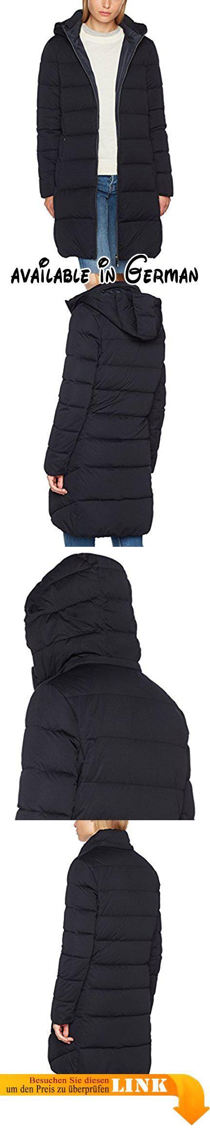 OPUS Damen Jacke Heleni, Blau (Deep Navy 6052), 38. Der lange Daunenmantel schützt optimal vor Kälte, ist wasserabweisend und auch atmungsaktiv. Die Kapuze ist über einen Reißverschluss abtrennbar #Apparel #OUTERWEAR