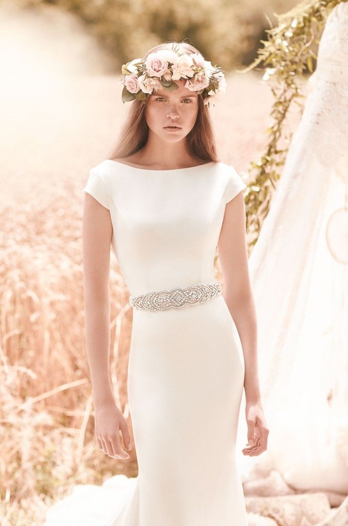Style 2061 crop Mikaella wedding dress Spring Collection_0