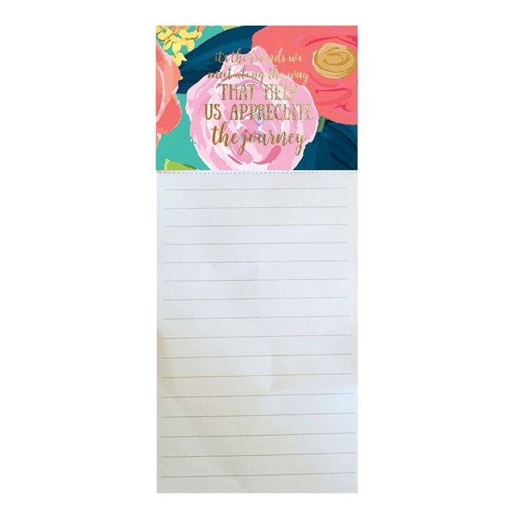 Magnetic Notepad Appreciate the Journey SHIPS 2/1
