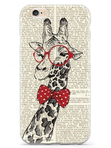 Nerdy Giraffe - Vintage Encyclopedia Page Case for iPhone 6 & 6s