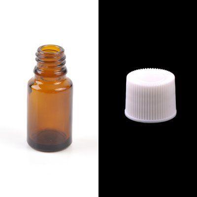 Sklenená fľaška, liekovka, biely vrchnák, 30 ml