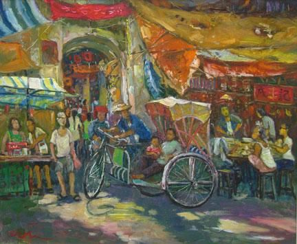Koeh Sia Yong (许锡勇; b1938, Singapore), 2nd generation artist.