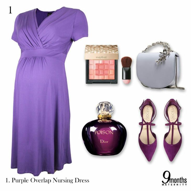 Comfort is what you need in a special occasion. Grab a overlap dress that drapes over your baby bump and let fashion speaks for you. 😉 www.9monthsmaternity.com  Say yes to the dress: Purple Overlap Nursing Dress → $42.47