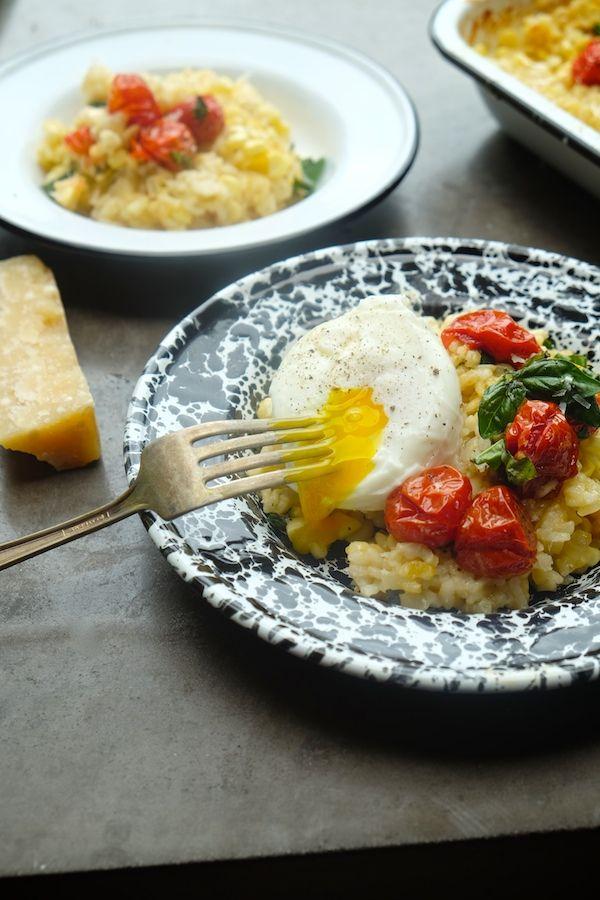 Corn & Tomato Risotto by shutterbean: Corn, basil, parmesan, risotto ...