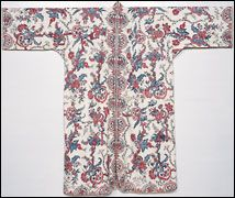man's banyan of painted-and-dyed cotton, first half 18th c