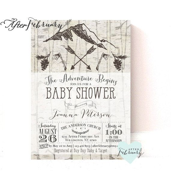 Camp Baby Shower Invitation // Adventure Baby Boy by AfterFebruary