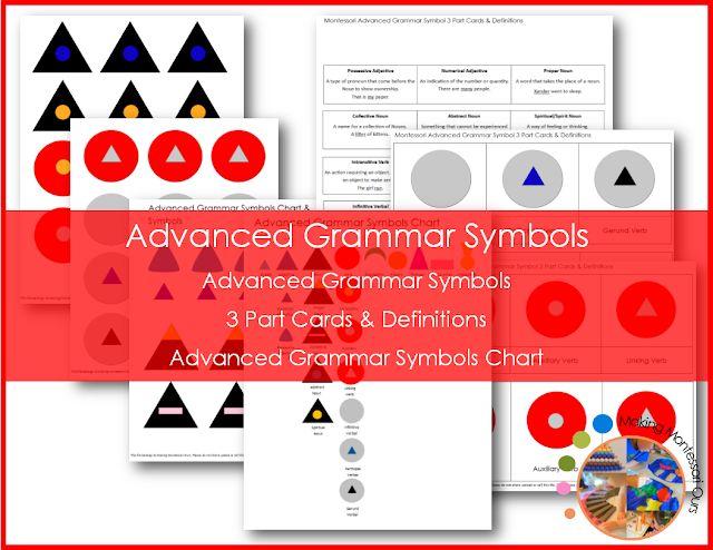 Montessori Advanced Grammar Symbols, Montessori At Home