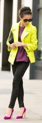 loving these colours all together....but might try a bit of a different shade of yellow/green... by Wendy's Lookbook