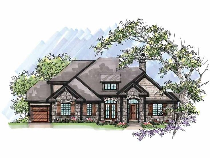 Mediterranean house plan with 2855 square feet and 4 for Mediterranean country house