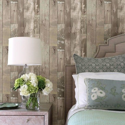 Heim Distressed Wood Wallpaper  Brewster Texture Trends 2   http   lelandswallpaper. 17 Best images about Dreamy Bedrooms on Pinterest   Romantic