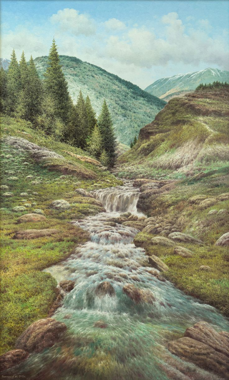 Vasily Gribennikov Mountain Creek, 100*60, 2015