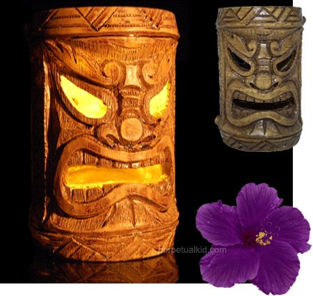 solar powered Tiki lights with extension poles for backyard parties