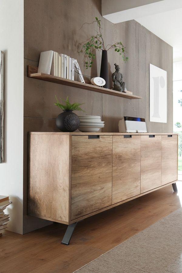 interior livingroom modern sideboard anrichte eiche
