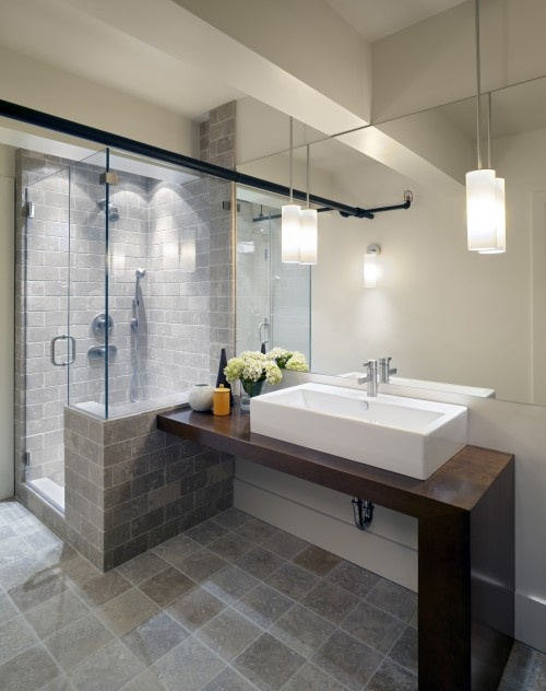 Shower is great! Sink too contemporary for our home, alas. LOVE the floor but would like under-floor heating if possible