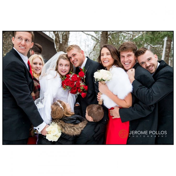 The wedding party had to huddle together for warmth. #Cold #Documentary #Idaho #Sagle #Wedding #Winter #WeddingParty #Preparation #Hugs #Bride #Groom #IdahoPhotographer #IdahoWeddingPhotographer #baileywedding11517