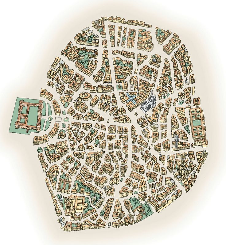 Marco Vaglieri • Center of Milan map, 2004