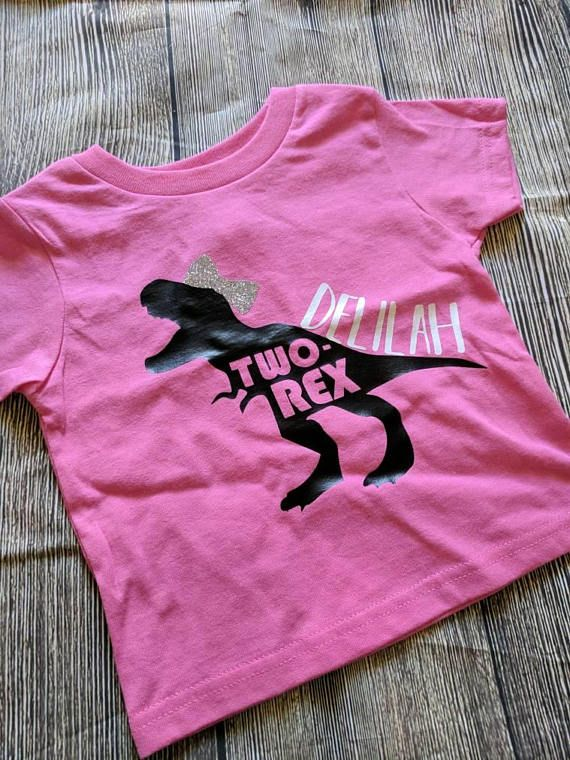 Dinosaur Girl Birthday Shirt Change It To She Rex With Number 5