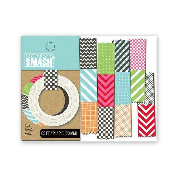Smash páska / Mix Dekorativní samolepící smash páska s různými vzory vhodná pro různou kreativní činnost. Pomocí této pásky vyrobíte zajímavé detaily na vašich scrapbookových či jiných projektech. Snadno ji využijete při tvorbě scrapbookových stránek, originálních přáníček, visaček, notýsků, krabiček, obálek, deníků, project life apod. Jsou také vhodné pro ...