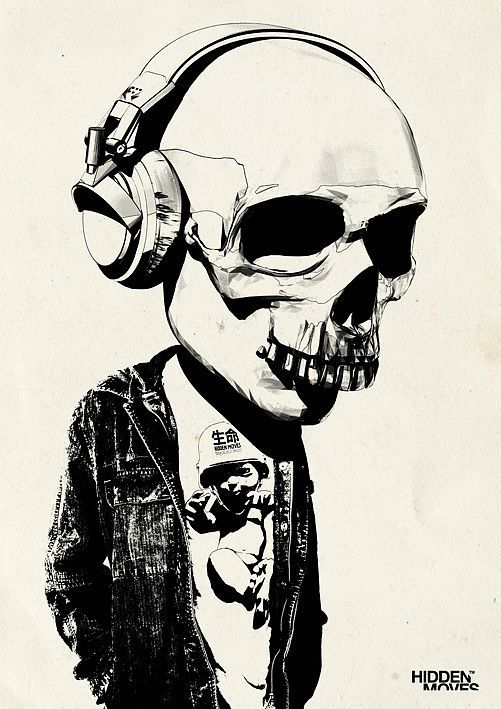 Illustrations by Rhys Owens and more art inspirations at skullspiration.com