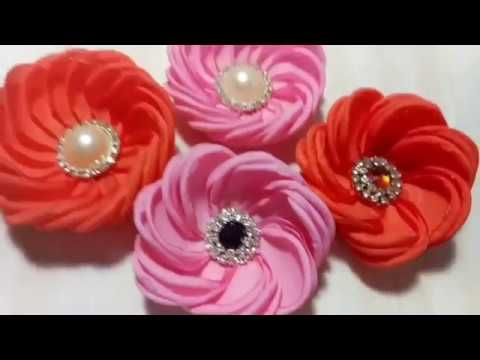 62) Tutorial Bunga Kain | Fabric Flower