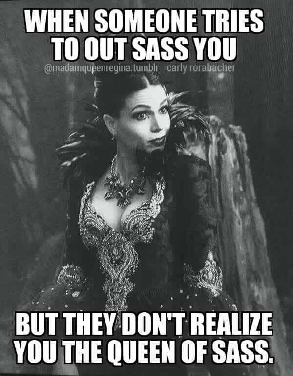 My favorite parts of OUAT are when Regina and Rumple try out sassing each other
