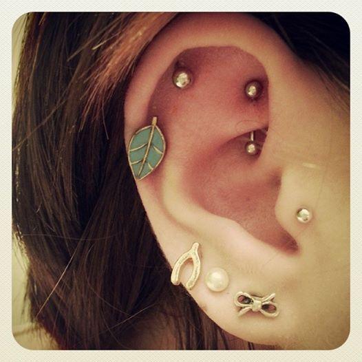 Rook piercing, earrings, piercing, cartilage, ear