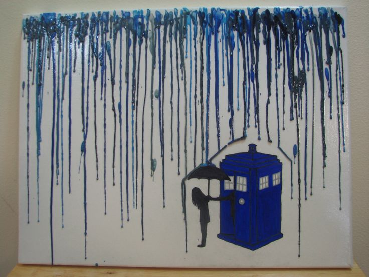 Doctor Who Melted Crayon Art. $28.00, via Etsy.