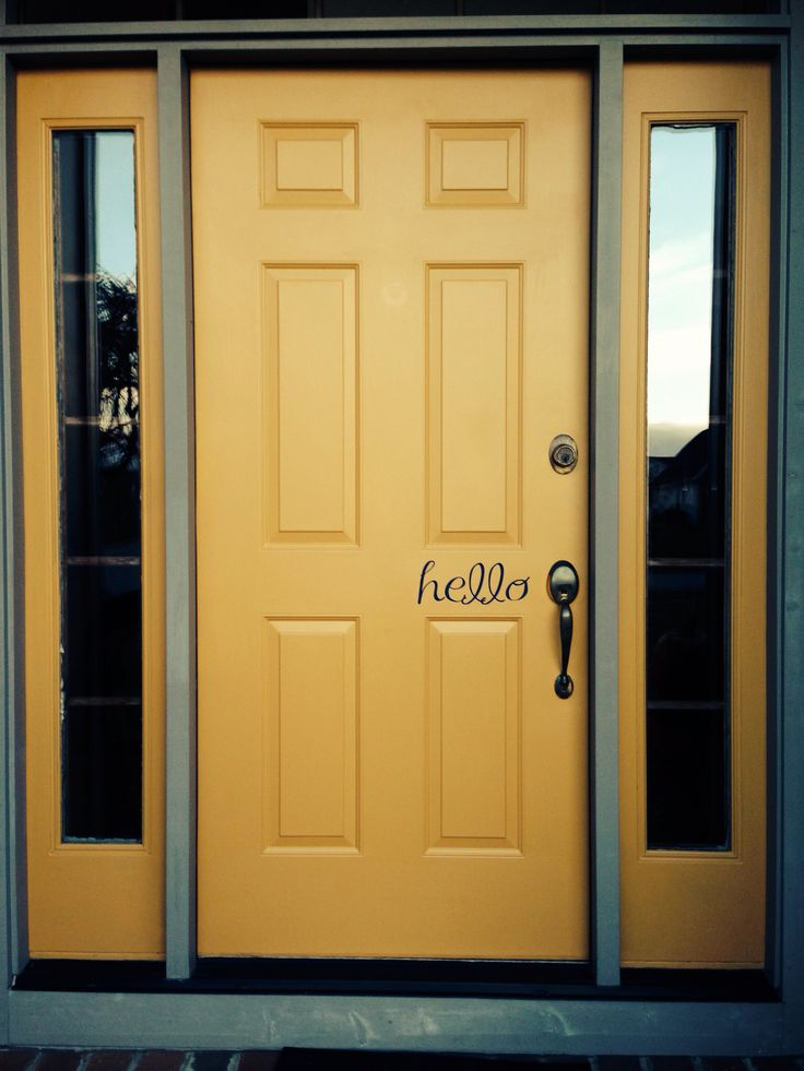 Yellow front door hello been there done that pinterest for Front door yellow house