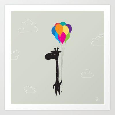 The Happy Flight Art Print by GretaZserbo - $19.00