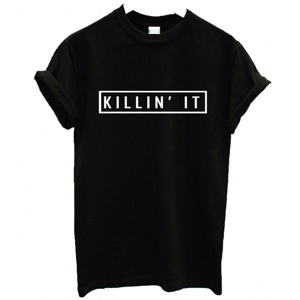 EP Apparel US Unisex Killin' It T-Shirt Dope Swag Hype Top ($16) ❤ liked on Polyvore featuring tops, t-shirts, shirts, t shirts, henley shirt, unisex tops, henley t shirt and black t shirt