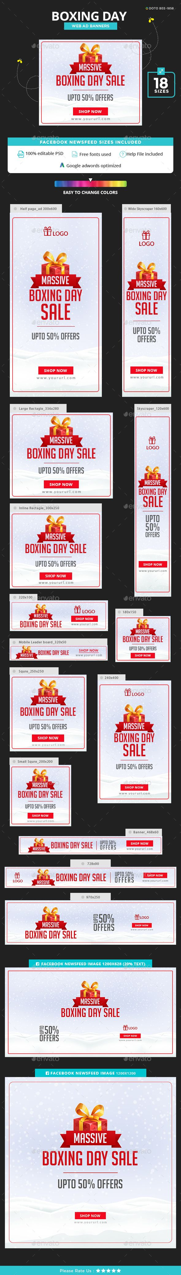 Boxing Day Sale Banners - Banners & Ads Web Elements Download here : https://graphicriver.net/item/boxing-day-sale-banners/19198028?s_rank=106&ref=Al-fatih