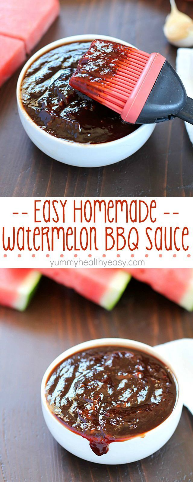 Watermelon Homemade BBQ Sauce - it's quick, simple to make and tastes deliciously sweet & tangy! Plus a $325 Visa Card giveaway!