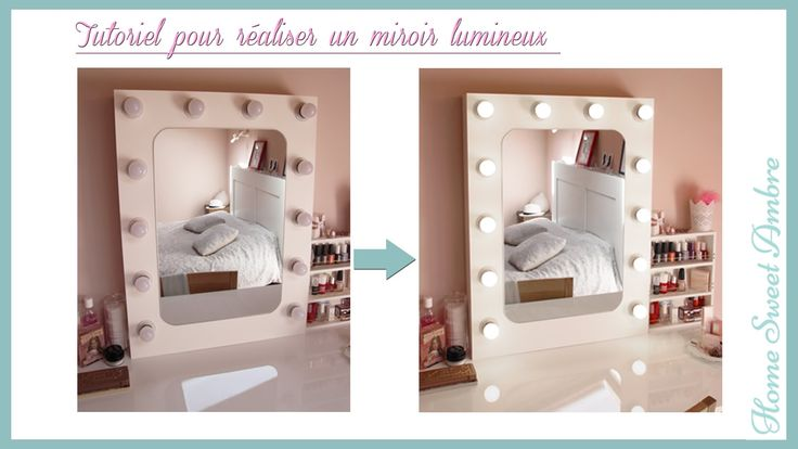 DIY Miroir lumineux maquillage pro - Vanity mirror with lights / Hollywood vanity mirror - YouTube