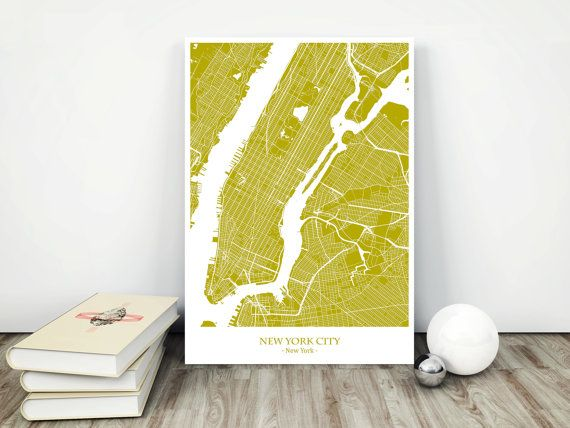 New York City Map Printable Download jpg File by MCartography
