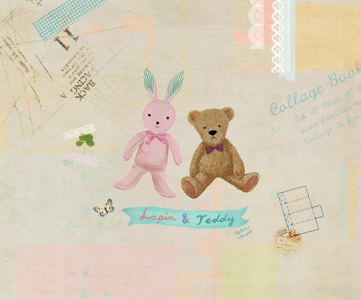 Lapin et Teddy 감성 IT 중심지 코글☆ Free download for mobile background
