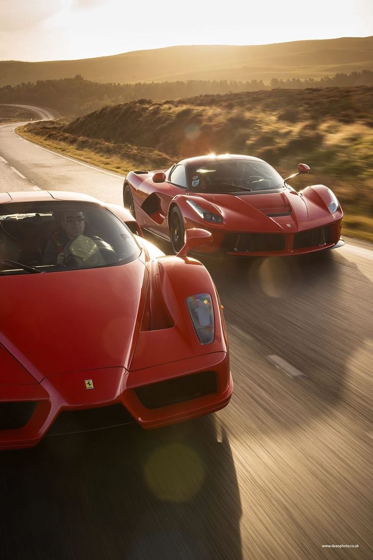 Sibling Rivalry - Enzo and LaFerrari have fun on the twisty roads of Wales okokno See our:Facebook Page -okokno